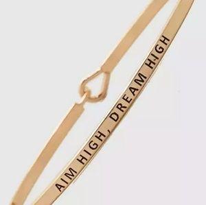 Aim High . Dream High Bracelet